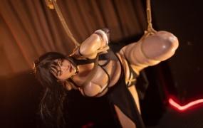 【cos写真】微博少女 ninja阿寨寨-叛忍捕获轻度SM 绳艺套图【43p/223M】