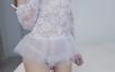 微博贫乳少女-软萌萝莉小仙 – 白色蕾丝透视新娘装【110P/6V】